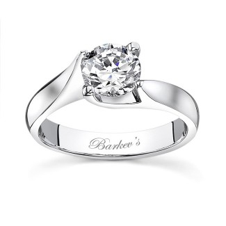 Barkevs Round Solitaire Ring  7611LW