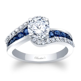 Barkevs Sapphire Engagement Ring 8017LBSW