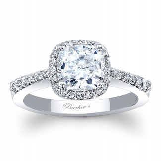 Barkevs Halo Engagement Ring 8019LW
