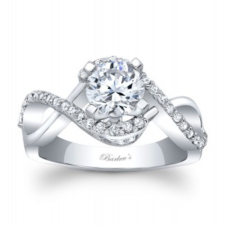 Barkevs Diamond Engagement Ring  8020LW