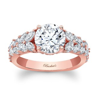 Barkevs Unique Rose Gold Engagement Ring 8022LPW