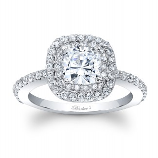 Barkevs Halo Engagement Ring 8028LW