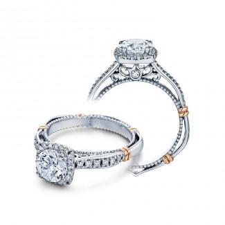 Verragio D-104CU Two-Tone Ladies Pave Engagement Ring