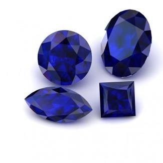Round Lab Grown Blue Sapphire