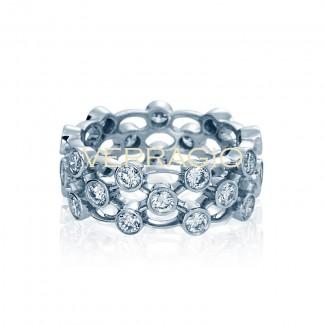 Verragio 4025L White Gold Ladies Eterna Wedding Band