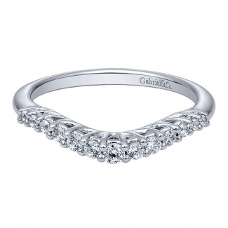 Gabriel & Co 14K White Gold Diamond Curved Anniversary Band AN10964W44JJ