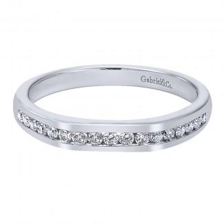 Gabriel & Co 14K White Gold Diamond Straight Anniversary Band AN11018W44JJ