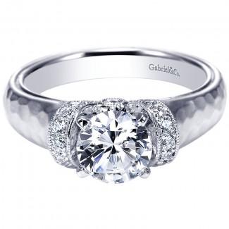 Gabriel & Co 14K White Gold Diamond Straight Engagement Ring ER9092W44JJ