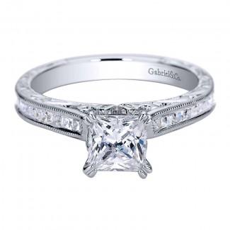 Gabriel & Co 14K White Gold Diamond Straight Engagement Ring ER9198W44JJ