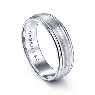 Gabriel & Co 14K White Gold Straight Wedding Band MBM0170-60W4JJJ