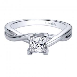Gabriel & Co 14K White Gold Solitaire Engagement Ring ER9600W4JJJ