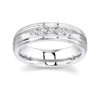 White Gold Diamond Wedding Band 8101G