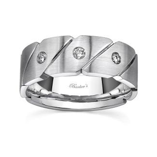 White Gold Diamond Wedding Band 8039G