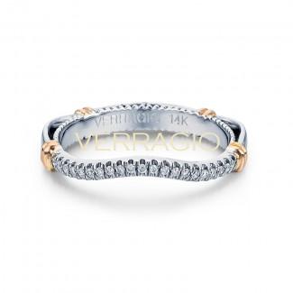 Verragio D-117W-GOLD 14k White Gold Ladies Parisian Wedding Band