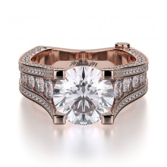 MICHAEL M 18k Rose Gold Engagement Ring R302-2-18R