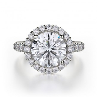 MICHAEL M 18k White Gold Engagement Ring R320L-3-18W