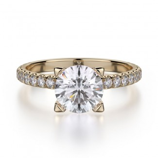 MICHAEL M 18k Yellow Gold Engagement Ring R371-1-18Y