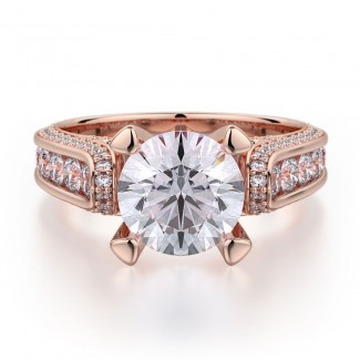 MICHAEL M 18k Rose Gold Engagement Ring R399-2-18R