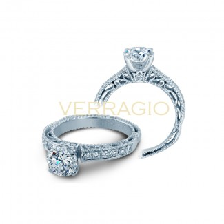 Verragio AFN-5001R-3  14k White Gold Ladies Venetian Engagement Ring