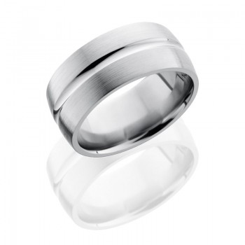 Lashbrook Titanium 10mm Domed Band With Concave Center 10DC