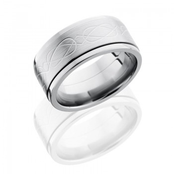 Lashbrook Titanium 10mm Flat, Spinner Band With Celtic Pattern 10FCLTSPIN