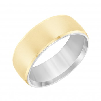 Goldman Two-Tone Mens Comfort-Fit Wedding Band 11-8385A7-G.00
