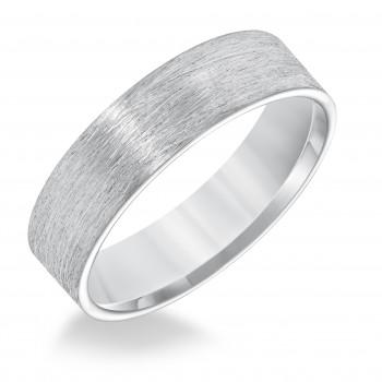 Goldman 14k White Gold Mens Comfort-Fit Wedding Band 11-8587W6-G.00