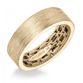 Artcarved 11-WV17Y7  14k Yellow Gold Mens  Wedding Band