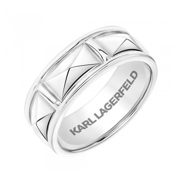 Karl Lagerfeld 31-KA133P  18k White Gold Mens  Wedding Band