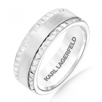 Karl Lagerfeld 31-KA136GUP  18k White God Mens Wedding Band