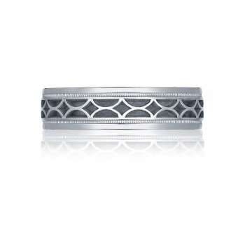 Tacori 113-6  Platinum Mens Sculpted Crescent Wedding Band