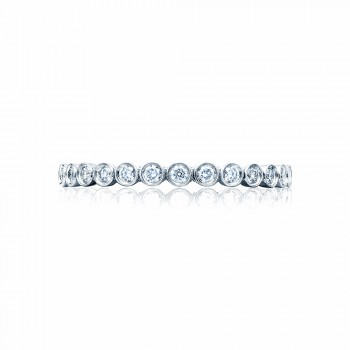 Tacori 200-2  Platinum Ladies Sculpted Crescent Wedding Band