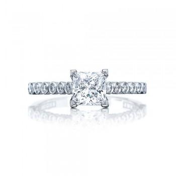 Tacori 200-2PR55 Platinum Sculpted Crescent Engagement Ring