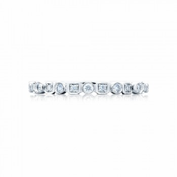 Tacori 201-2  Platinum Ladies Sculpted Crescent Wedding Band