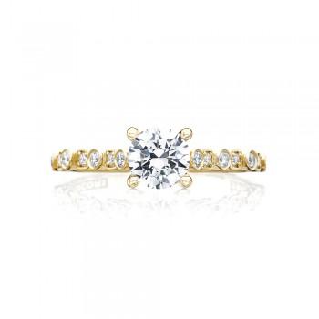 Tacori 201-2RD55Y 18 Karat Sculpted Crescent Engagement Ring
