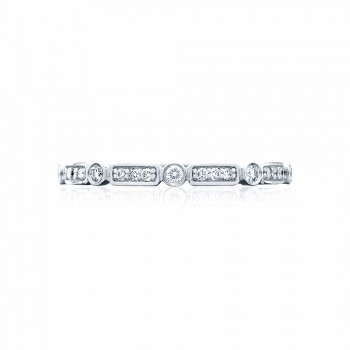 Tacori 202-2  Platinum Ladies Sculpted Crescent Wedding Band