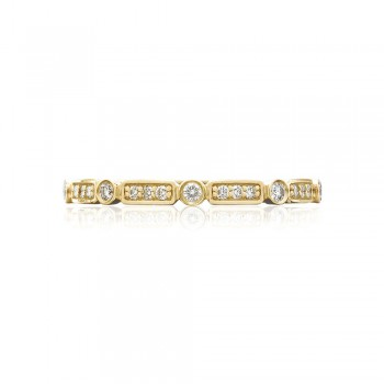 Tacori 202-2Y  18k Yellow Gold Ladies Sculpted Crescent Wedding Band