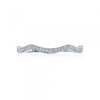 Tacori 2565B-1  Platinum Ladies Ribbon Wedding Band