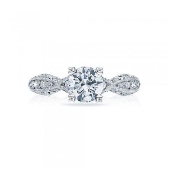 2578RD6512 Platinum Tacori Classic Crescent Engagement Ring