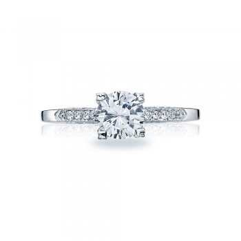Platinum Simply Tacori Solitaire Engagement Ring 2586RD6