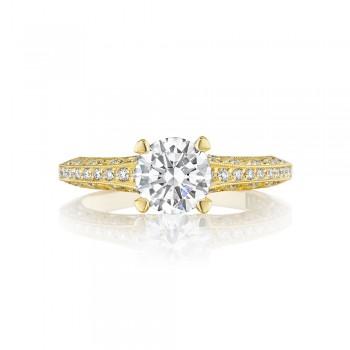 2616RD65Y 18 Karat Tacori Gold Engagement Ring