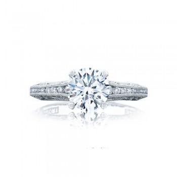 Tacori 2617RD7 Platinum Reverse Crescent Engagement Ring