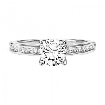 Artcarved 31-V117ERW Classic 14k White Gold Ladies  Engagement Ring