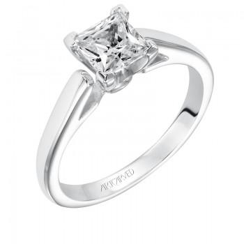 Artcarved 31-V120ECW Classic 14k White Gold Ladies  Engagement Ring