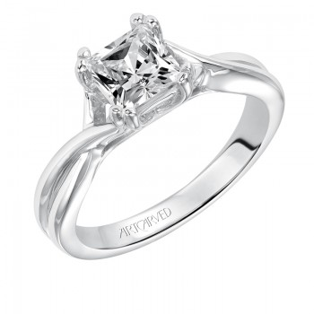 Artcarved 31-V153ECW-E.00 Contemporary 14k White Gold Ladies Solitude Engagement Ring
