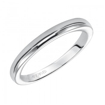 Artcarved 31-V163W-L.00 Contemporary 14k White Gold Ladies Rachel Wedding Band