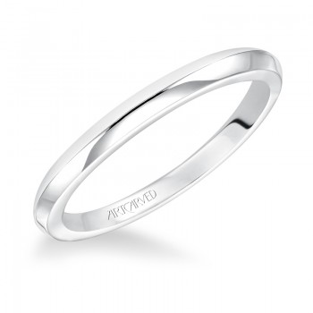 Artcarved 31-V179W Classic 14k White Gold Ladies  Wedding Band