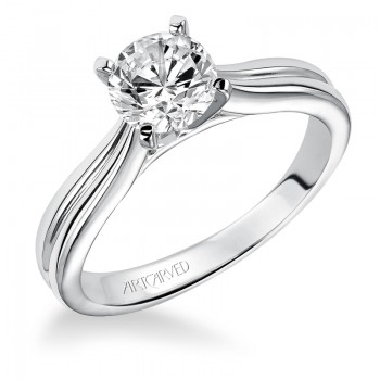 Artcarved 31-V195ERW Classic 14k White Gold Ladies  Engagement Ring