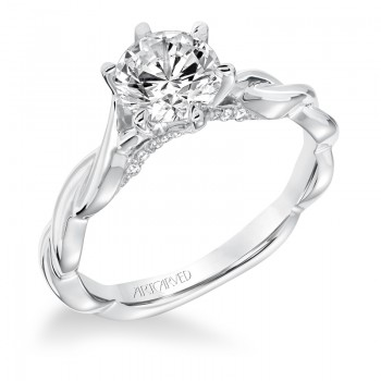 Artcarved 31-V676ERW-E.00 Solitaire 14k White Gold Ladies Tala Engagement Ring