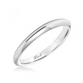 Karl Lagerfeld 31-KA154GRP Classic 18k White God Ladies  Wedding Band